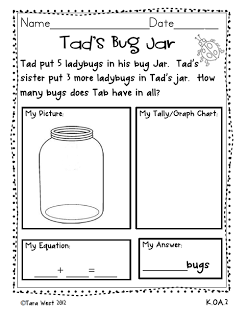 Worksheets Kindergarten Addition Word Problem addition story problems little minds at work problems
