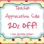 Teacher Appreciation Sale!!