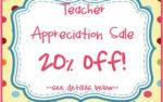 Teacher Appreciation Sale!!