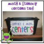 Math & Literacy Centers Organization & Labels