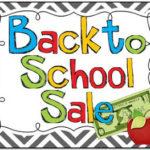 Back to School Sale!!