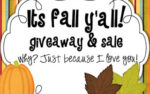 It's Fall Y'all….Giveaways & Sale!!!