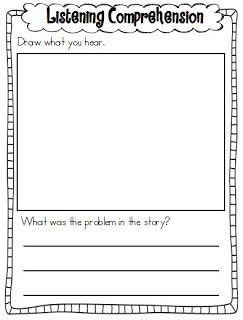 Worksheet Auditory Comprehension Worksheets listening comprehension freebie little minds at work have a great ending to your weekend