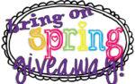 Spring Giveaway #6