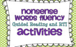 RTI & Guided Reading {Nonsense Words Activities} and a FREEBIE