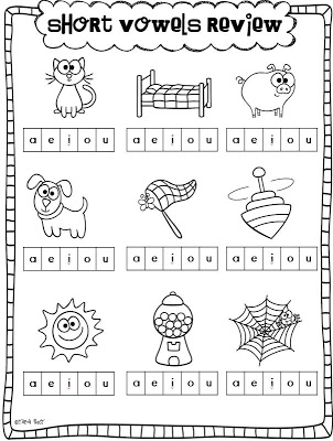 It is a photo of Priceless Free Printable Short Vowel Worksheets