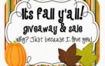 It's Fall Y'all! {a sale & giveaway}