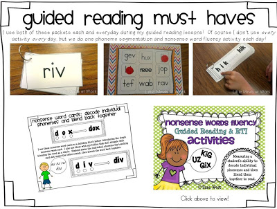 Kindergarten Guided Reading/Daily 5 Block! All In One Post! - Little Minds  At Work