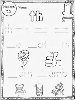 graphic about Th Worksheets Free Printable called Digraphs freebie involved - Very little Minds at Operate