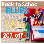 Back to School Blues SALE {freebies too}