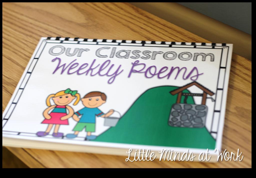 Kindergarten Poetry Book Cover : Freebie kindergarten weekly poems little minds at work