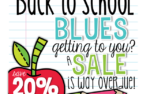 Back to School Blues Sale {and freebies!}
