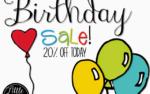 It's a Birthday Sale!