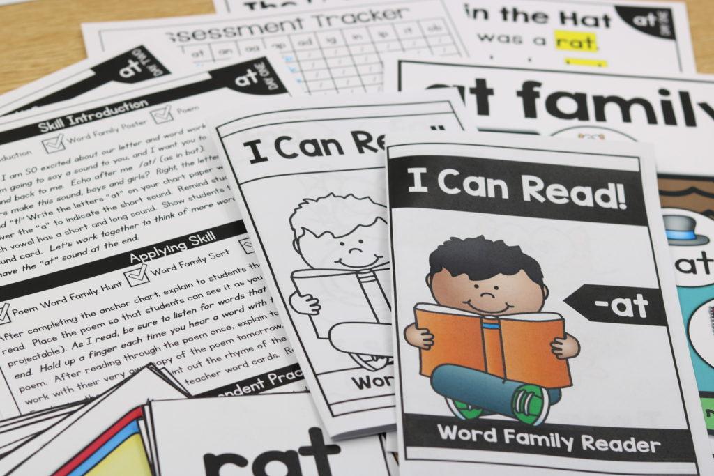 Kindergarten word families