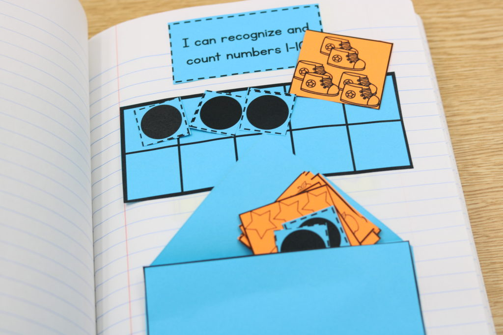 first grade interactive math notebook