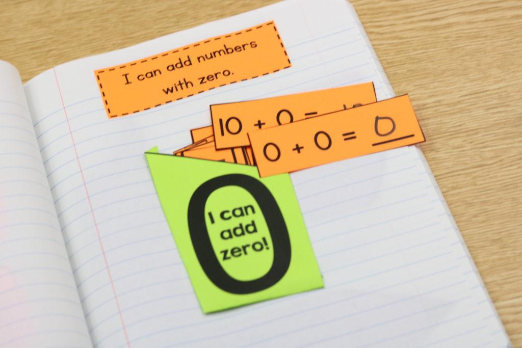 first grade interactive math notebook