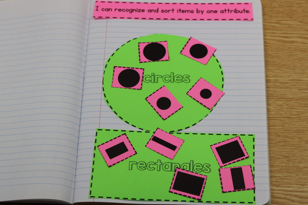 kindergarten math interactive notebooks