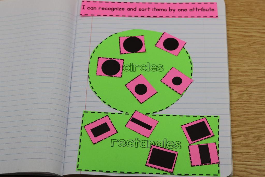 kindergarten math interactive notebooks