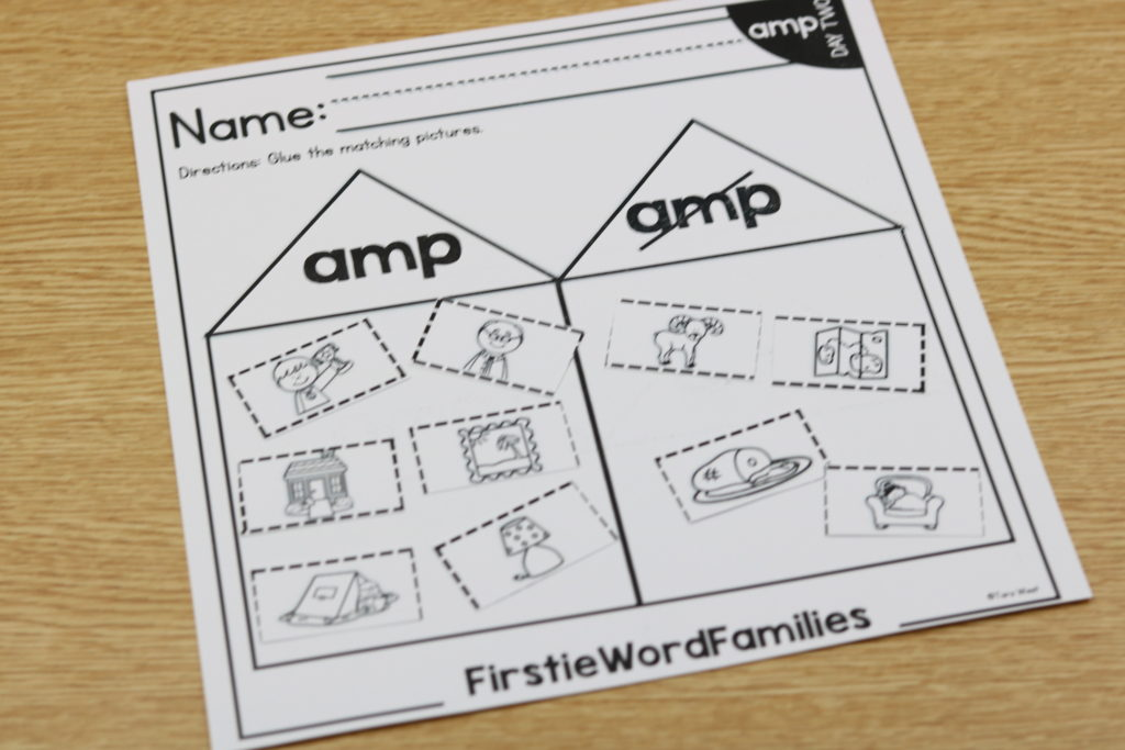 first grade word families
