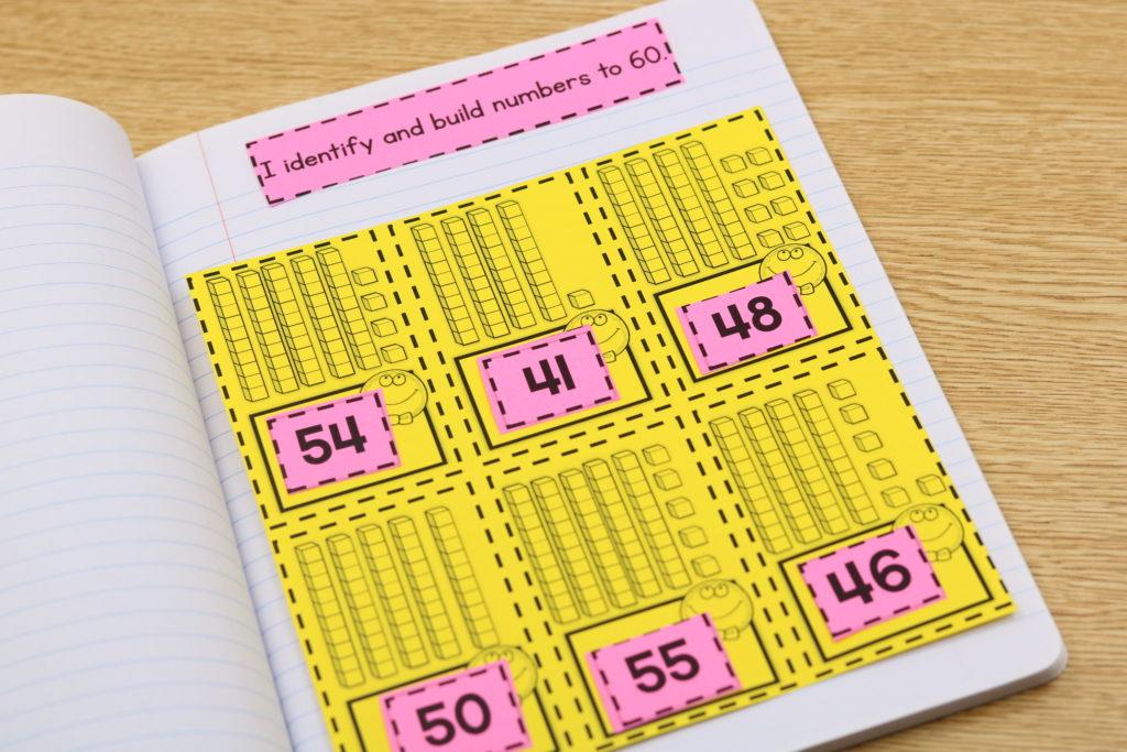 kindergarten interactive math notebook