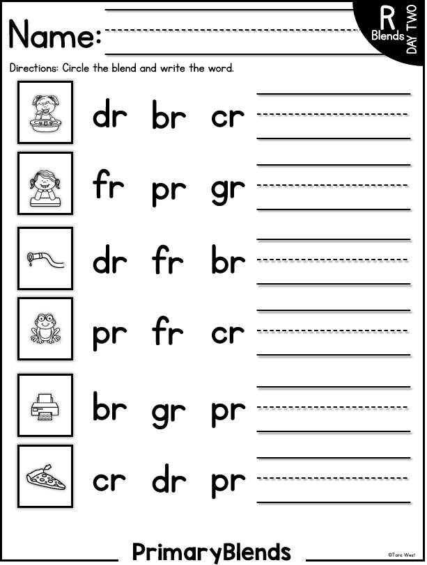 Primary Blends And Digraphs A Freebie Little Minds At Work