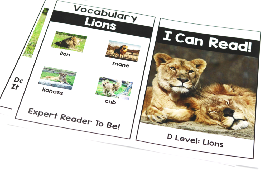 kindergarten nonfiction readers