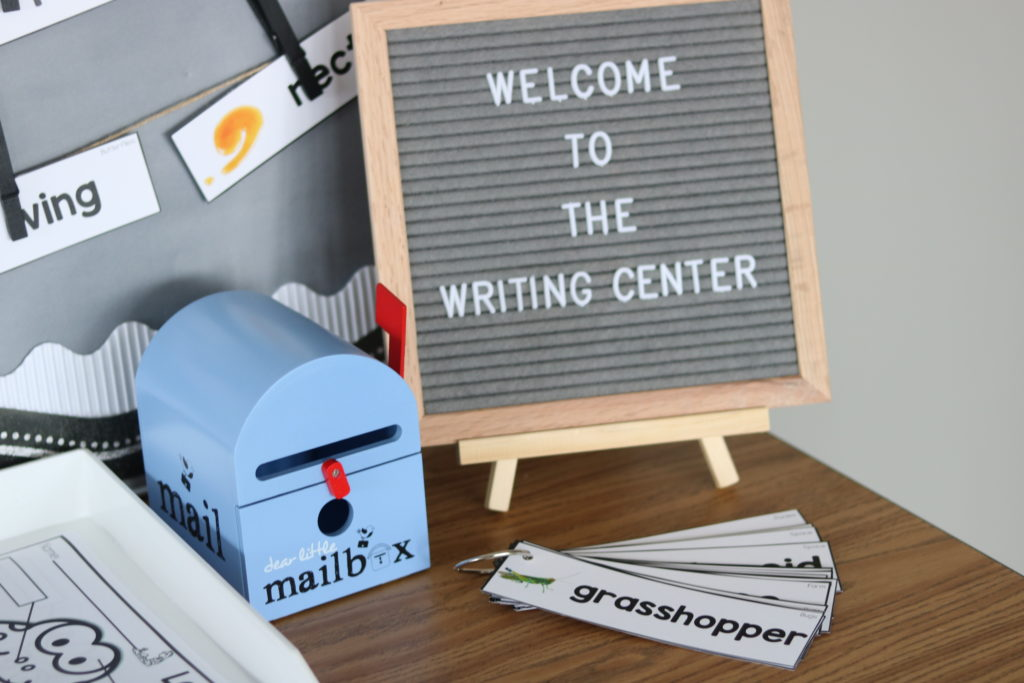 Classroom writing center