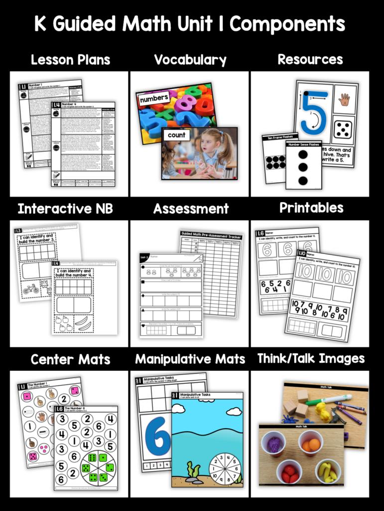 Kindergarten Guided Math Comprehensive Curriculum