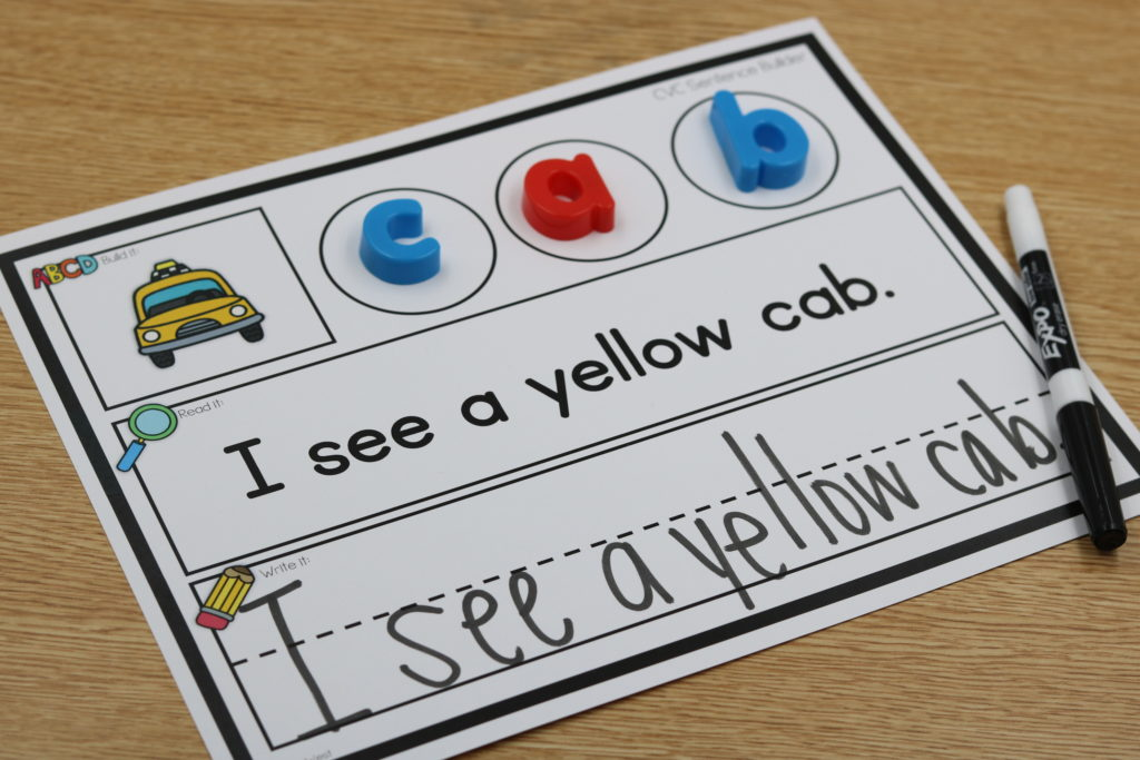 Kindergarten Sentences