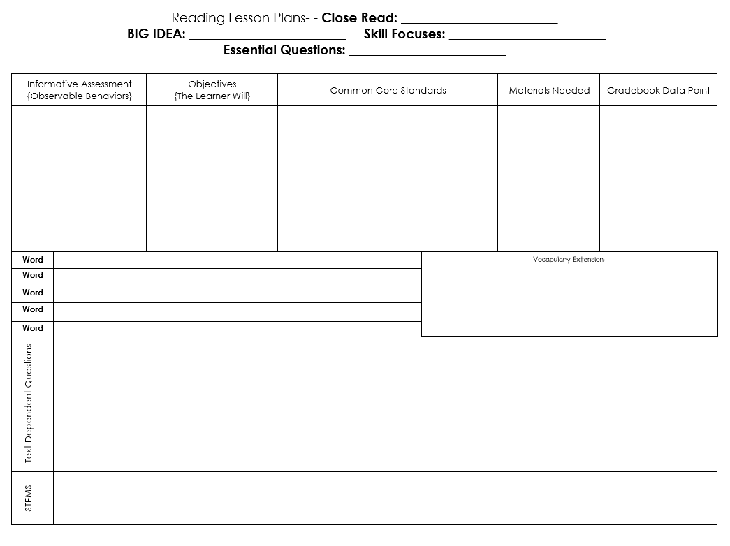 close reading planning template.html