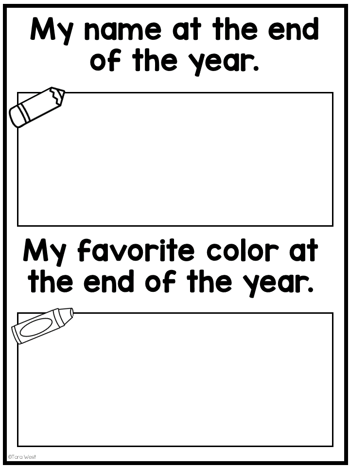 Kindergarten End of the Year