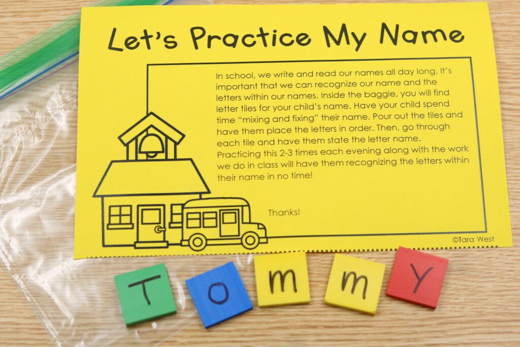 names in kindergarten