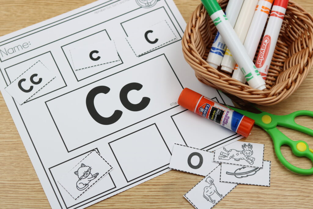 alphabet kindergarten