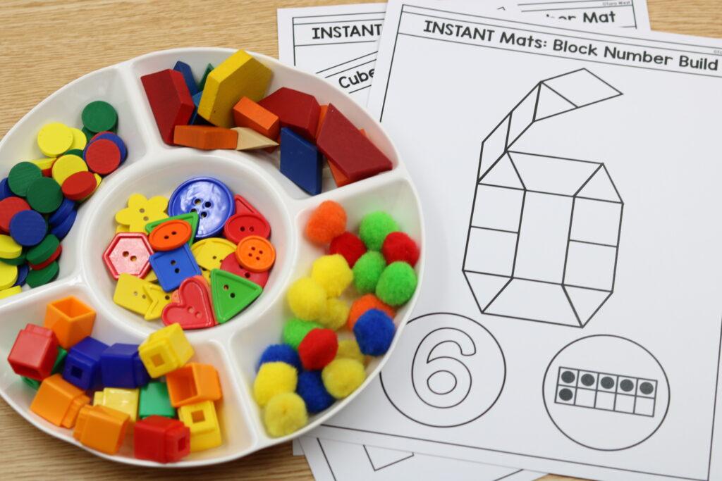kindergarten number centers